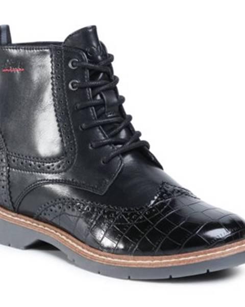 Čierne topánky s.Oliver RED LABEL