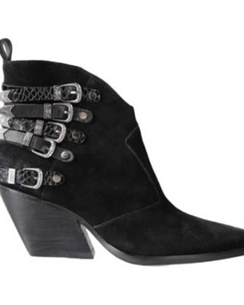 Čierne topánky Gino Rossi Premium