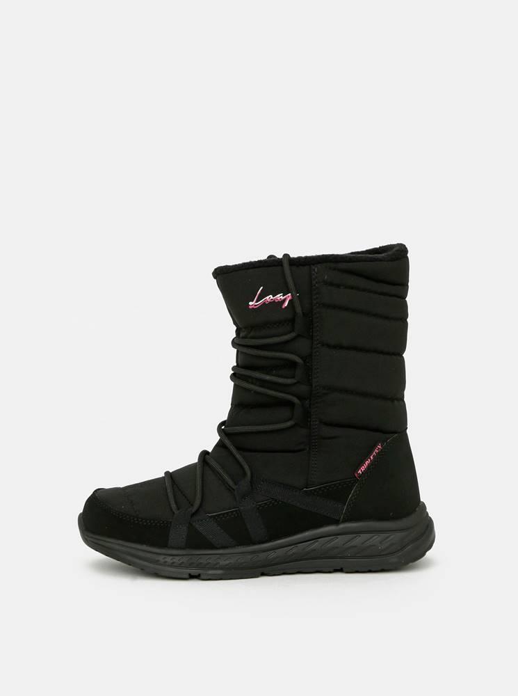 loap Čierne dámske zimné topánky LOAP
