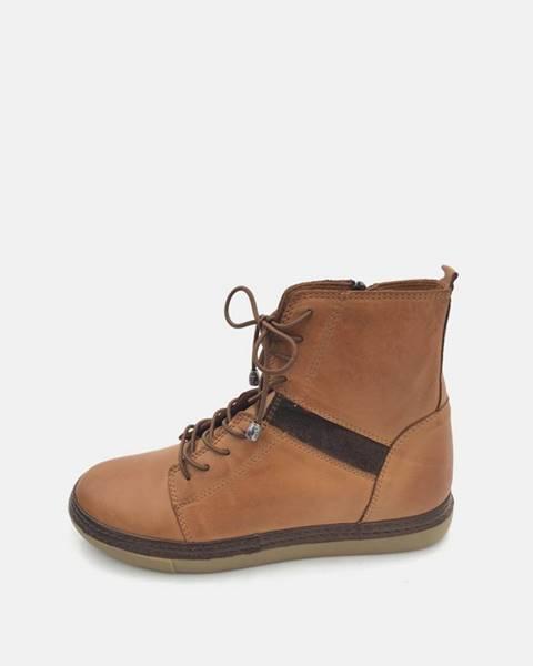 Hnedá zimná obuv wild