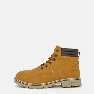 Horčicové dámske zimné topánky LOAP