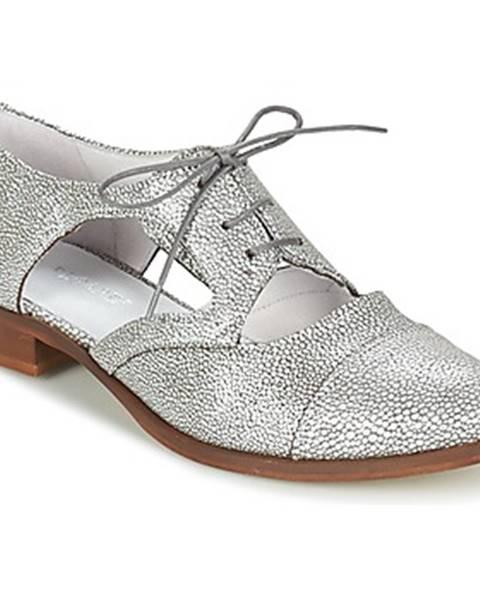 Strieborné topánky Regard
