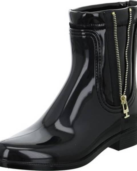 Čierne čižmy Tommy Hilfiger