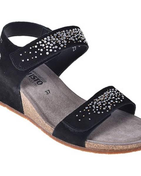 Čierne sandále Mephisto