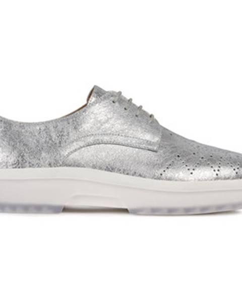 Strieborné topánky Geox