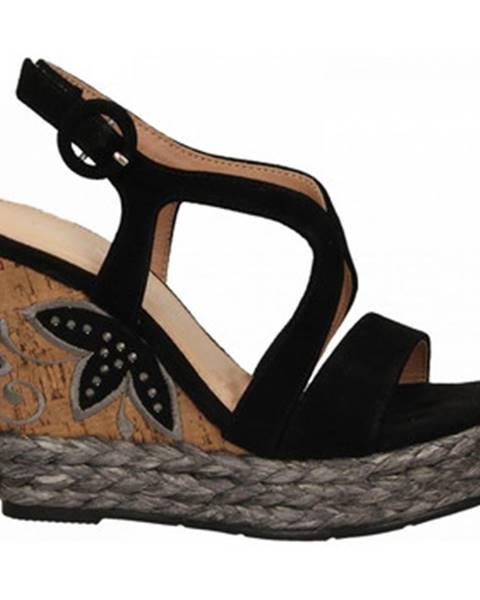 Čierne sandále Café Noir