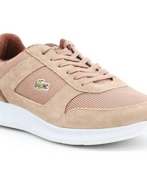 Hnedé tenisky Lacoste