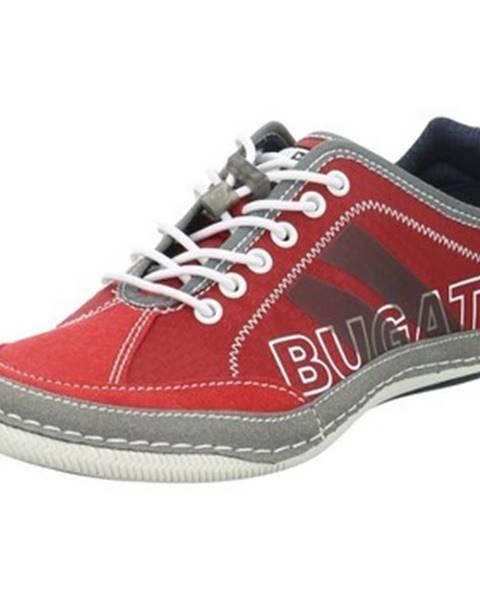 Červené topánky Bugatti