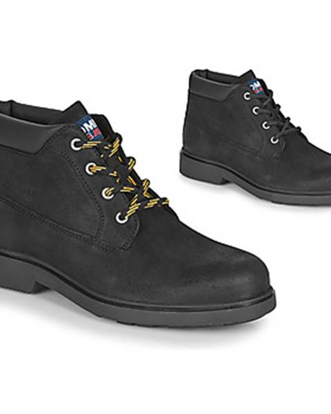 Čierne polokozačky Tommy Jeans