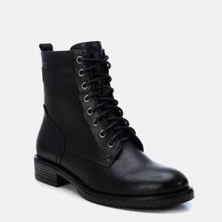 Čierne dámske členkové topánky Xti