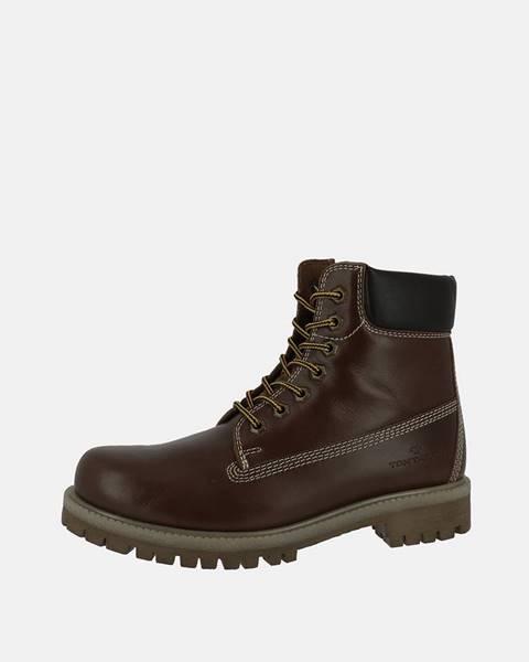 Tmavohnedé topánky Tom Tailor