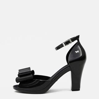 Čierne dámske sandálky Zaxy