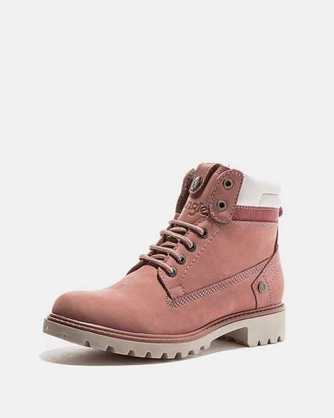 Ružová zimná obuv Wrangler