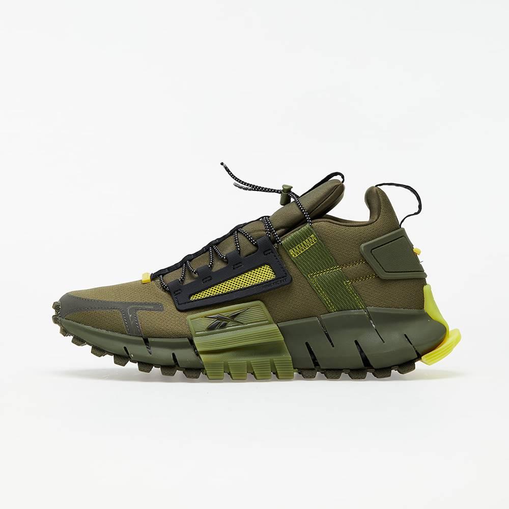 Reebok Zig Kinetica Edge Army Green/ Black/ Utility Yellow