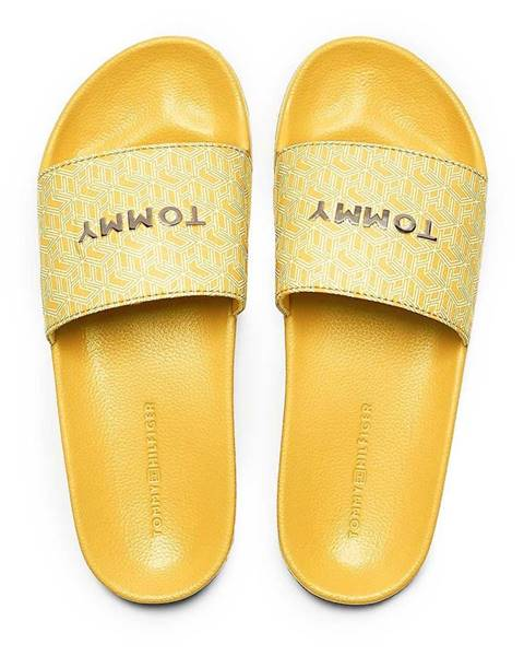 Žlté papuče Tommy Hilfiger