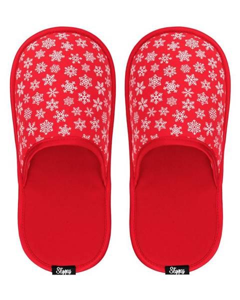 Červené papuče slippsy