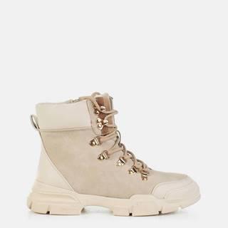 Béžové dámske členkové topánky MUSK