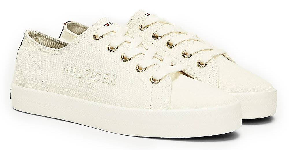 Tommy Hilfiger Tommy Hilfiger smotanové tenisky Logo Embroidery Low Top Trainers