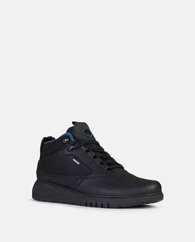 Čierna zimná obuv Geox