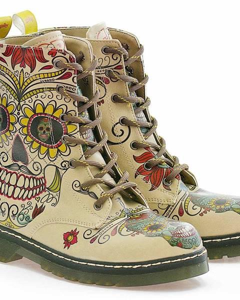 Fialové topánky goby