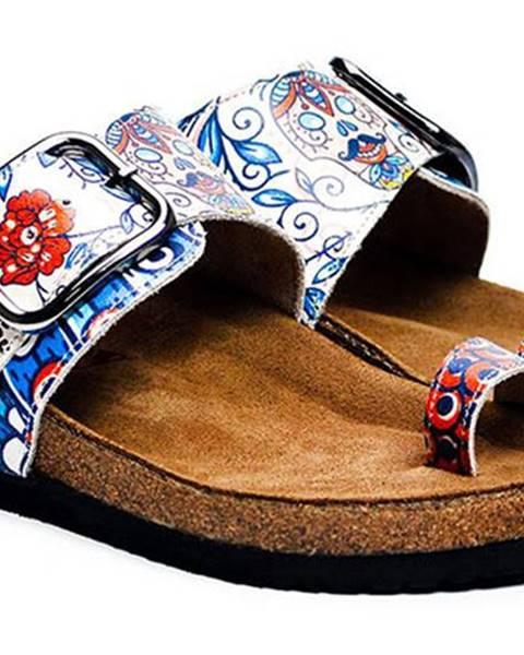 Modré papuče calceo