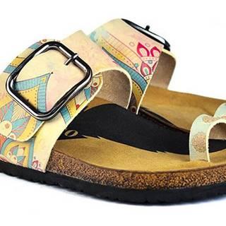 Calceo žlté šľapky Thong Sandals Mandala