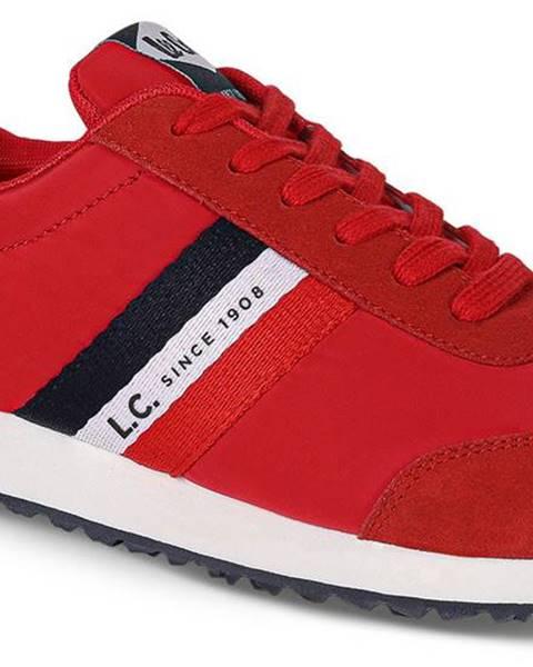 Červené tenisky lee cooper