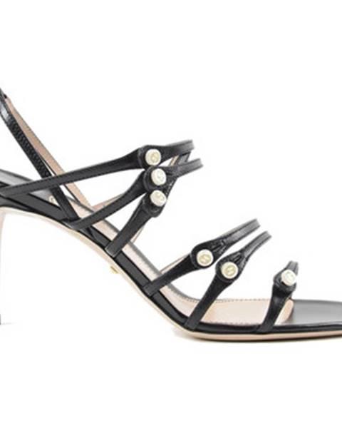 Čierne sandále Gucci