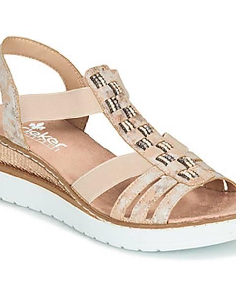 Ružové sandále Rieker