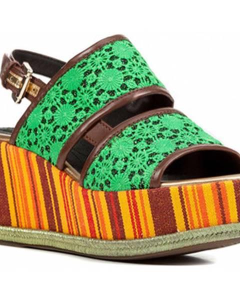 Zelené sandále Geox