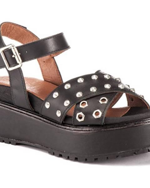 Čierne sandále Lumberjack