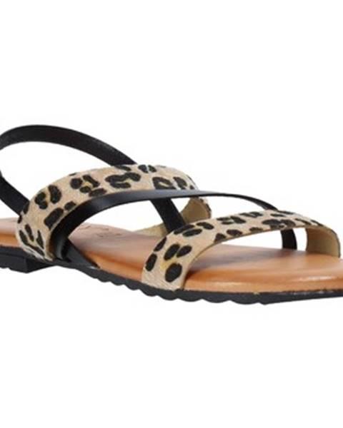 Čierne sandále Jeiday
