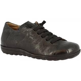 Derbie Leonardo Shoes  504 STROPICCIATO NERO