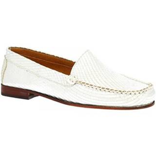 Mokasíny Leonardo Shoes  318A ARGENTO