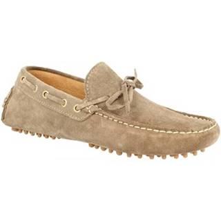 Mokasíny Leonardo Shoes  C01 CAMOSCIO FANGO