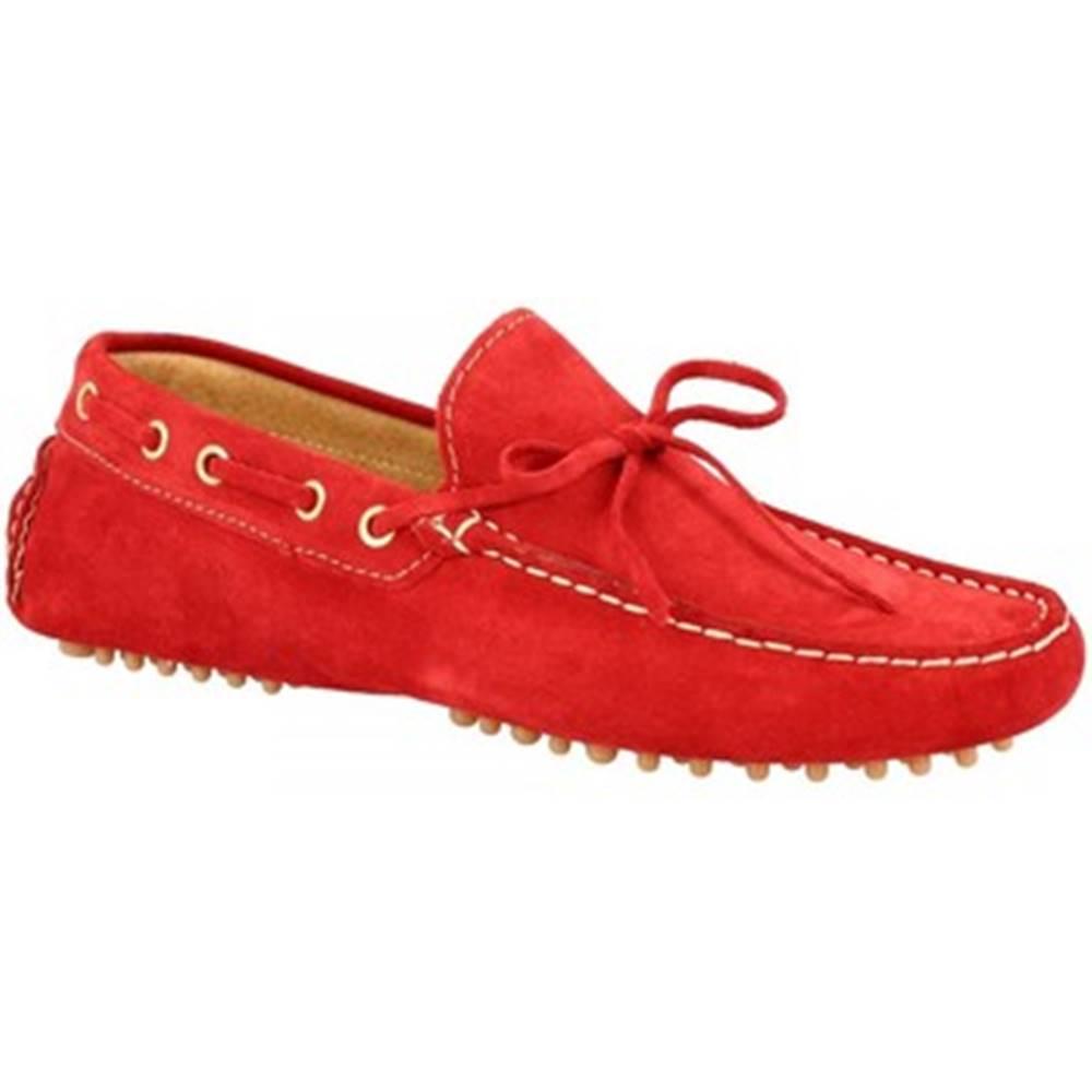 Leonardo Shoes Mokasíny Leonardo Shoes  C01 CAMOSCIO ROSSO