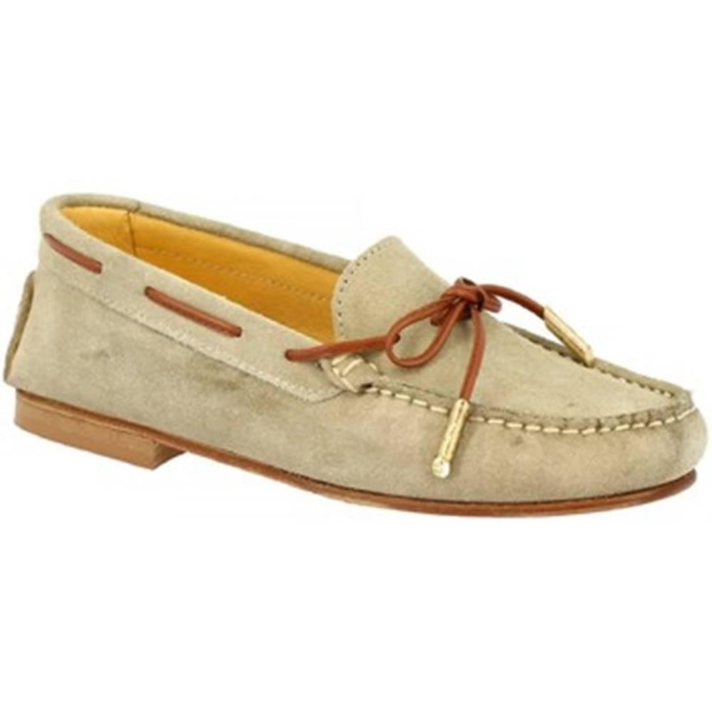 Leonardo Shoes Námornícke mokasíny Leonardo Shoes  502 CAMOSCIO SABBIA