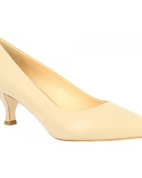 Béžové lodičky Leonardo Shoes