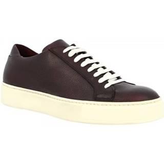 Nízke tenisky Leonardo Shoes  602 VITELLO BORDEAU