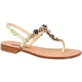 Sandále Leonardo Shoes  E104 PLATINO/VIOLA
