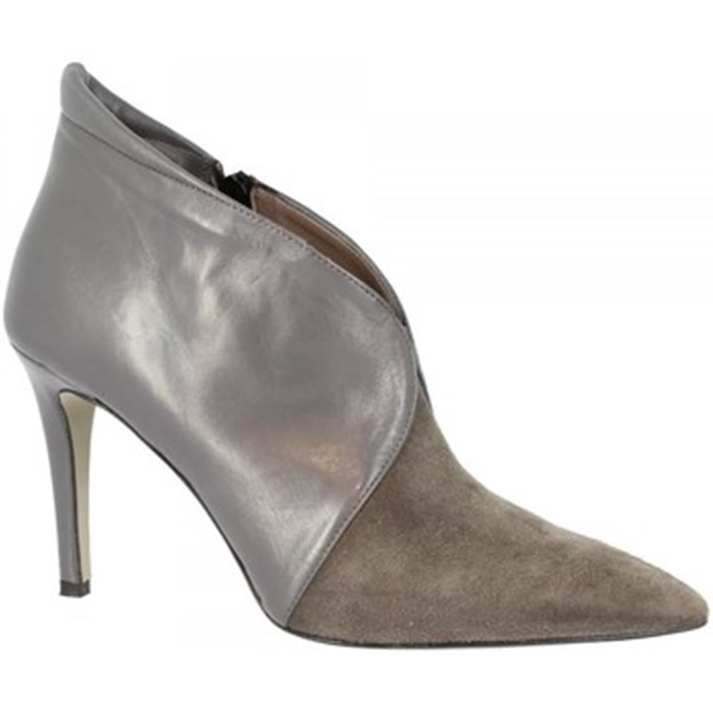 Leonardo Shoes Polokozačky Leonardo Shoes  NAPPA C 147 GRIGIO