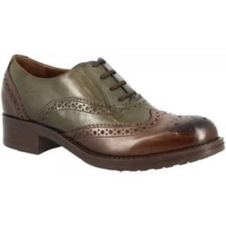 Derbie Leonardo Shoes  D08913LIA5. TQ02 TEQUILA EBANO VERDE