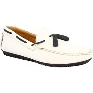 Mokasíny Leonardo Shoes  510 DOLLARO BIANCO