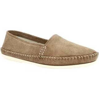 Mokasíny Leonardo Shoes  INDIANINO CAMOSCIO FANGO