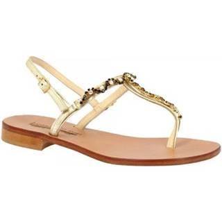 Sandále Leonardo Shoes  E103 PLATINO/NERO