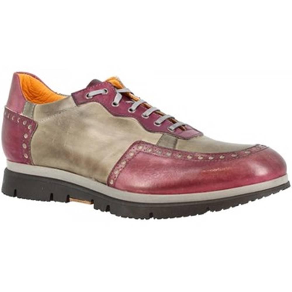 Leonardo Shoes Derbie Leonardo Shoes  351-69 GRIGIO BORDO