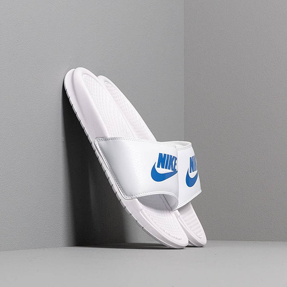 Nike Benassi Jdi White/ Varsity Royal