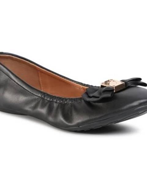 Čierne balerínky Bassano