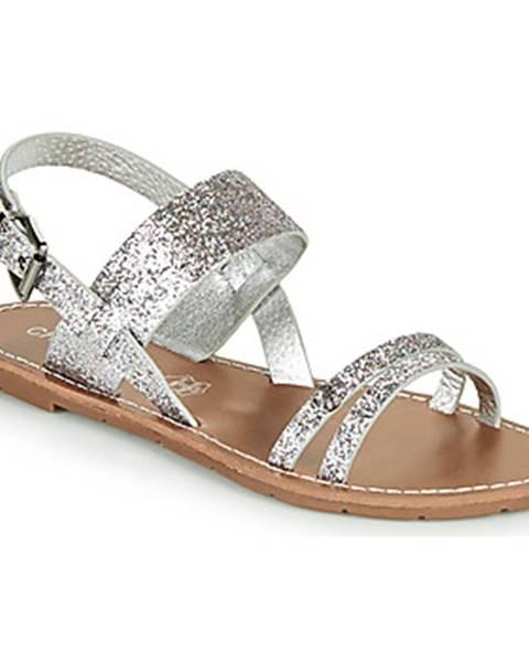 Strieborné sandále Chattawak