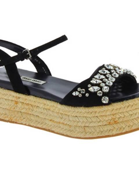 Čierne sandále Miu Miu
